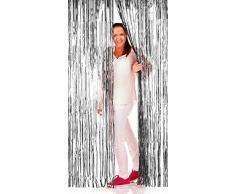 NEU Türvorhang Lametta Folien-Schimmer Silber, 1m x 2m
