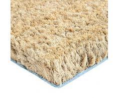 40 x 60 cm Kokosmatte 24mm Fußmatte Türmatte Natur Fußabtreter, aus natürlichem Kokos für Innen- und Aussenbereich