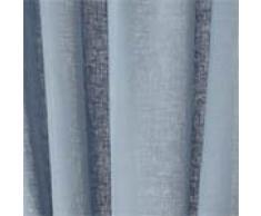 """URBANARA Vorhang """"Fana"""" - 100% reiner Leinen, Vorhangschal mit Tunnelzug - einzelner Schal (140x245 cm, Hellblau)"""