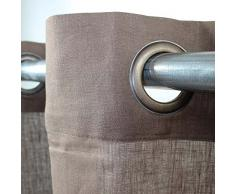 Garance 100% Leinen Vorhang 140 x 250 monbeaurideau – Mokka