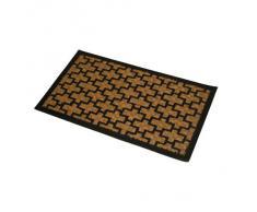 JVL Fußmatte, PVC und Kokosfaser, 40 x 60 cm