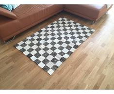 Luxus Patchwork Teppich aus schwarz-weissem Kuhfell