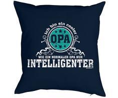 Weihnachtsgeschenk für Opa Kissenbezug Ich bin ein cooler Opa …intelligenter Geschenk für die Opa Polster Sofakissen Couchkissen Weihnachten
