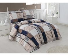 Bettwäsche Bettgarnitur Baumwolle Renforce mit Reißverschluss 5 Größen und vielen Farben Öko-Tex (135x200 cm, Design 28)