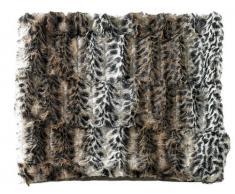 Wilson Gabor Pelzdecke: Flauschige Kunstpelz-Decke Wildkatze 200 x 150 cm (Webpelz)