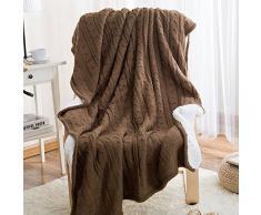 MZMZ-composite Freizeitaktivitäten Decke Kaschmir-decke Cashmere gestrickt twist Schlafsofa Decke Geschenk,6.120 x 180cm