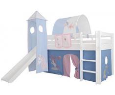 Etagenbett Vorhang Blau : Etagenbett sammy buche natur lackiert mit bücherregal vorhang und