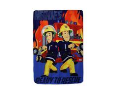 SETINO 720-445 Feuerwehrmann Sam Fleece Decke Kuscheldecke Tagesdecke 100x140cm