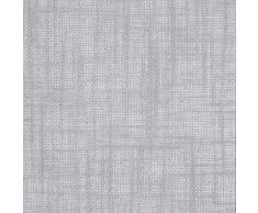 Linder 0517/91/375FR Vorhang Canvas grau Optik Leinen, Ösen, 135 x 260 cm