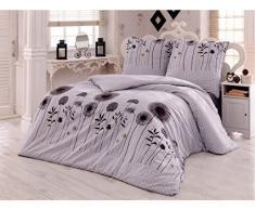 Bettwäsche 200x200 Baumwolle Bettgarnitur mit Reißverschluss 3 teilig L-A7944
