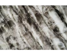 Eskitex !!! Absolut Top !!! Kissen und Decke aus sehr hochwertigem Webpelz in Farbe Silber. Kissen und Decke sind extrem hochwertig verarbeitet und sind waschbar bei 40Grad. (45x45cm, Silber)