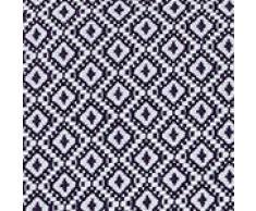 """URBANARA Baumwolldecke """"Mondego"""" – 100% reine Baumwolle, Diamantmuster – Decke, Überwurf, Tagesdecke, Sofadecke, Bettüberwurf, Sofaüberwurf, Plaid, Stola, Kuscheldecke, Fleecedecke (140 x 200 cm, Dunkelblau)"""
