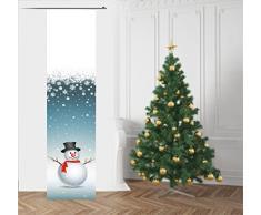 gardinen-for-life Lustiger FlächenvorhangSchneemann Weihnachten, Schiebevorhang, Gr.60x245 cm mit Technik Paket