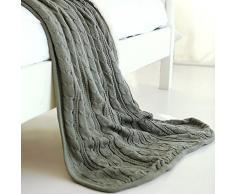 MZMZ-Einfachheit und kaschmir cashmere Decken aus Gewirken Freizeitaktivitäten Klimaanlage-napping Teppich Teppich Teppich Auto , Decke,1.125 x 185cm