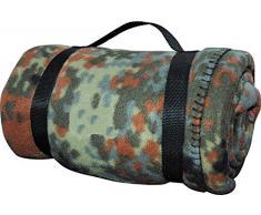 US Army Style Fleece Decke Picknickdecke Schlafdecke Unterlage in verschiedenen Farben Flecktarn