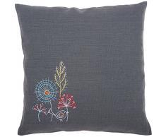 Vervaco PN-0156055 Stickkissen mit Kissenrücken Stilisierte Blumen