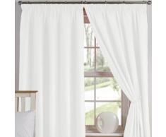 TJ Hughes Value Leinen-Vorhänge, einfacher Stil 168 x 137 cm weiß