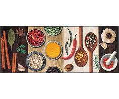 Wash + Dry Hot Spices Fußmatte, Acryl, bunt, 75x190x0.7 cm