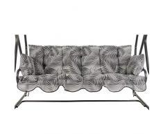 PATIO Auflagen Set Bora für Hollywoodschaukel Polsterauflage Sitzkissen Rückenkissen Seitenkissen Gesteppt G030-06PB 170 cm (grau)