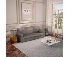 PETTI Artigiani Italiani - Sofaüberwurf, Sofabezug, Sofaüberwurf Grau, Sofabezug 2 Sitzer, Jacquard Stoff, 100% Made In Italy