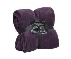 Pink Papaya Snug Me Coral Kuscheldecke XXL - Tagesdecke Wohndecke 220 x 240 cm, Kuscheldecken aus flauschigem Coral Mikrofaser-Fleece, Decke