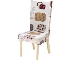 Nibesser 4er Set Stuhlhussen Stretch Stuhlbezug elastische moderne Husse Dekoration Stuhlüberzug für Universelle Passform (1#)