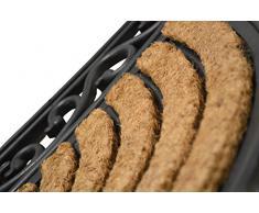 Halbrunde Fußmatte *Premium 3 Kilo schwer* aus Gummi und Kokos 76 x 46 cm für repräsentative Eingangsbereiche