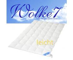 HANSKRUCHEN® | 975.50.033 | WOLKE 7® – Hochwertige Bettdecke – LEICHT – 240 x 220cm – 90% Naturdaunen / 10% Federchen – 1.030 gr. – Deutsches Qualitätsprodukt