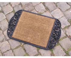 Fußmatte Kokosmatte Fußabtreter Türmatte Gummi Kokos Antik nostlgie Optik Art Deco Verona