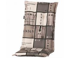 Madison Tom Sesselauflage, Baumwolle, grau, 123 x 50 x 8 cm, PHOSB279
