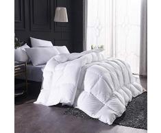 H&L 95% Weiße Gänsedaunen Bettdecke, King Size 220X240cm,Quilt Tröster Winter Warmer Betteinsatz Mit 100% Baumwollabdeckung Daunendichte Stoff Soft,Wärmeklasse 6 Weiß