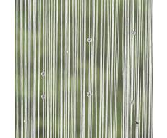 SIDCO Perlenvorhang Fadenvorhang Türvorhang Balkon Gardine Deko Insektenvorhang weiß