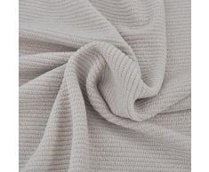 vidaXL Sofahusse Sofabezug Universal Sofabezüge Stretchhusse Polyester Rippstrick Beige