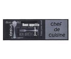 Küchenläufer / Küchenmatte / Dekoläufer für Küche und Bar / Teppich / Läüfer / Läufer / waschbare Küchenläufer / Küchendeko Modell ,,COOK & WASH Chef de Cuisine - Buon Appetito - Bon Appetit - Enjou jour meal - Guten