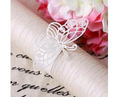 20 x Serviettenringe Servietten Ringe Platzkarten Tischkarten für Papierservietten Schmetterling Hochzeit Dekoration