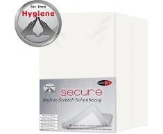 CelinaTex Secure Schonbezug 60 x 120-70 x 140 cm Molton Stretch Unterbett Baby- Kindergröße Matratzenauflage 0003057
