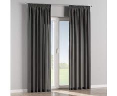 Dekoria Vorhang mit Kräuselband Dekoschal Blickdicht 1 Stck. 130 × 260 cm grau Maßanfertigung möglich