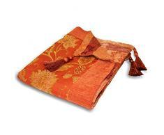 Paoletti Überwurf Dekorative 254 Für Sofa, Stuhl oder Bett, terra/rot