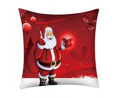 LoveLeiter Christmas Kissenbezug Weihnachten, (45 X 45 cm) beleuchtet Weihnachtskissen Kissen-kreatives Druckenleinen
