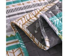 Laneetal 0180023, Tagesdecke Steppdecke Bettüberwurf Wendedesign Patchwork Bettdecke Stepp Decke Doppelbett unterfüttert und gesteppt, 220x240 cm