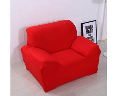 ele ELEOPTION Sofa Überwürfe Sofabezug Stretch elastische Sofahusse Sofa Abdeckung in Verschiedene Größe und Farbe Herstellergröße 95-140cm (Rot, 1 Sitzer für Sofalänge 90-130cm)
