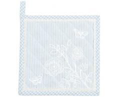 Clayre & Eef SAB45BL Topflappen Stripes and Butterflies, 20x20cm, Blau