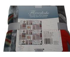 Fleece Decke 130 x 160 cm NEW YORK Wohndecke Kuscheldecke So