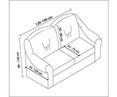My Palace Bielastisch 2 Sitzer Bezug, 2 Sitzer Husse. Sehr elastische Auflage in braun. Sofabezug Hussen Sofahusse Sofa Husse/Stretch Hussen/Sofahusse 2-Sitzer/Sofabezug 2 Sitzer