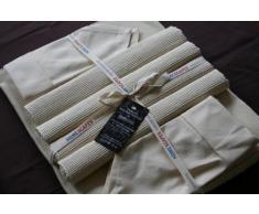 Homescapes Servietten Set 4 teilig creme unifarben 45 x 45 cm aus 100% reiner Baumwolle, Stoffservietten