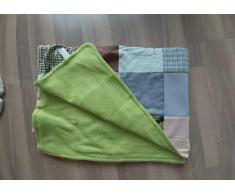 Patchwork Decke Picknickdecke Grün