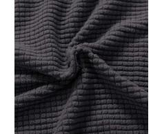 subrtex Spandex Sofabezug Stretch Couchbezug Sesselbezug Elastischer Antirutsch Sofahusse (1 Sitzer, Grau)