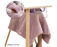 Blanket Elektrische Kuschelheizdecke USB Waschbar, Wiederaufladbare für Rücken und Schultern Plüsch Flanelldecke Beheizte Wärme Cape, für Auto Office Home Heizdecke