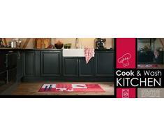 Roter Küchenläufer / Rote Küchenmatte /Roter Läufer / Roter Dekoläufer für Küche und Bar / Hot Chili / Pfeffer / Paprika / Rot / Der Hingucker in Ihrer Küche / Ihre Gäste werden staunen / waschbare Küchenläufer / Küchendeko