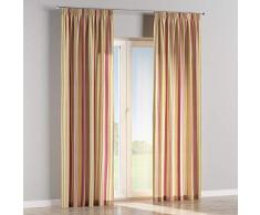 Dekoria Vorhang mit Kräuselband Dekoschal Blickdicht 1 Stck. 130 × 260 cm Olive-violett-beige Maßanfertigung möglich